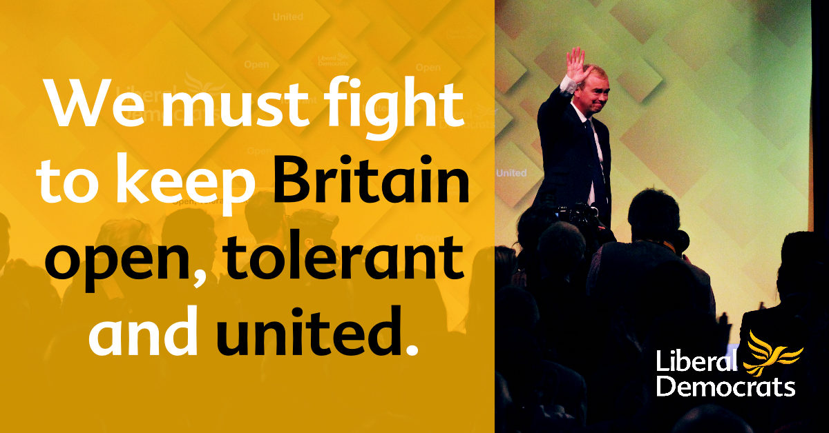 We must fight to keep Britain open, tolerant and united - Tim Farron's speech to Conference