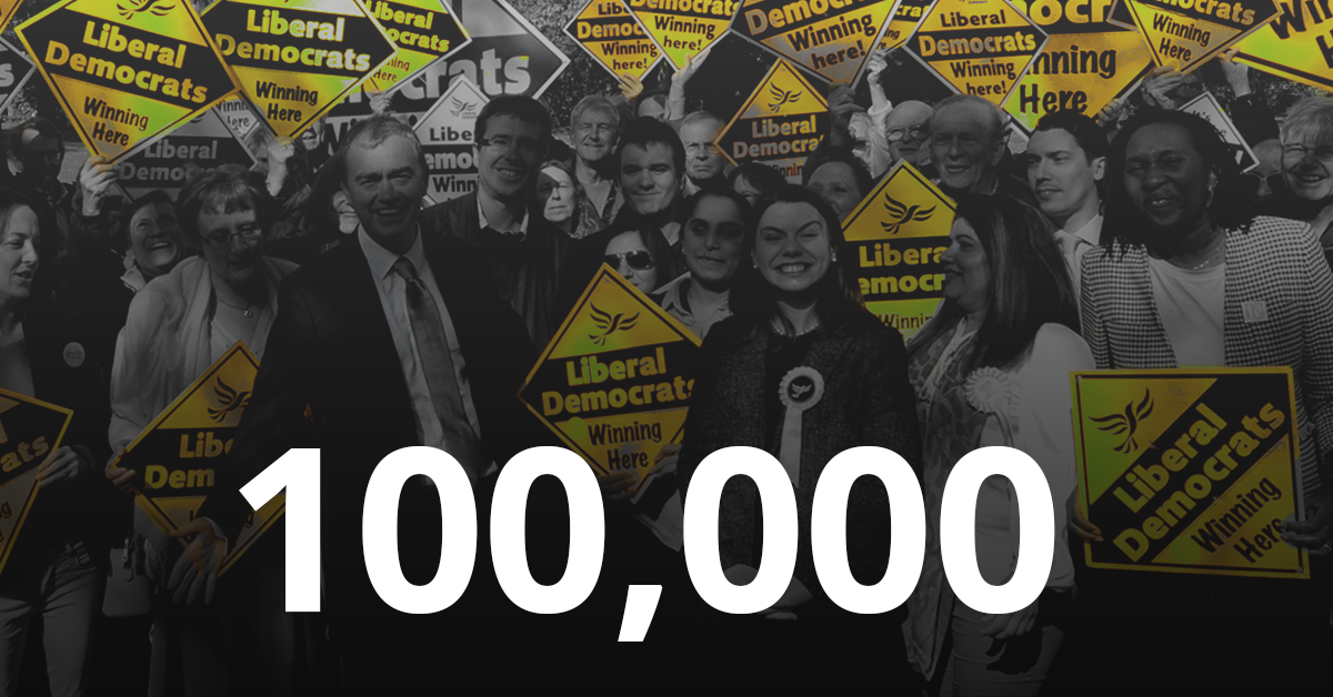 Liberal Democrats expected to surpass 100,000 members  Voters flock to Liberal Democrats after Theresa May calls snap general election