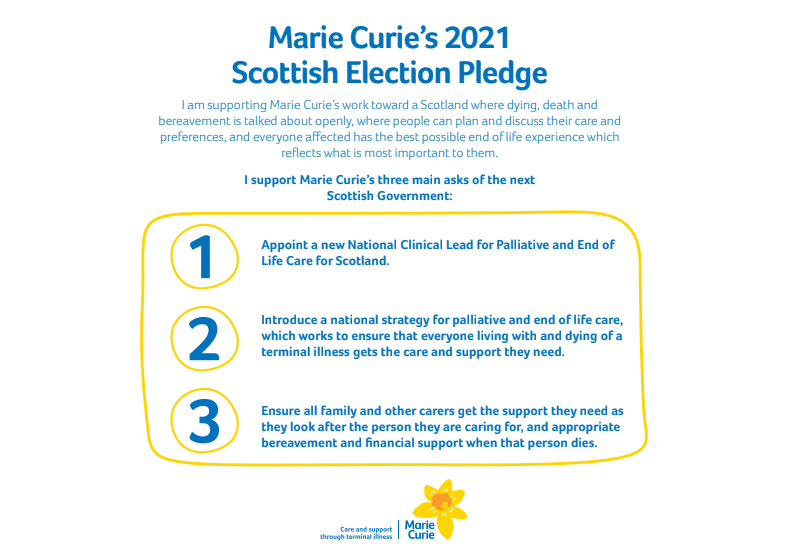 Marie Curie 2021 Pledge