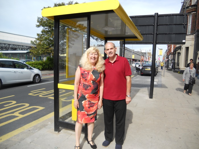 Councillors Get New Bus Shelter Installed