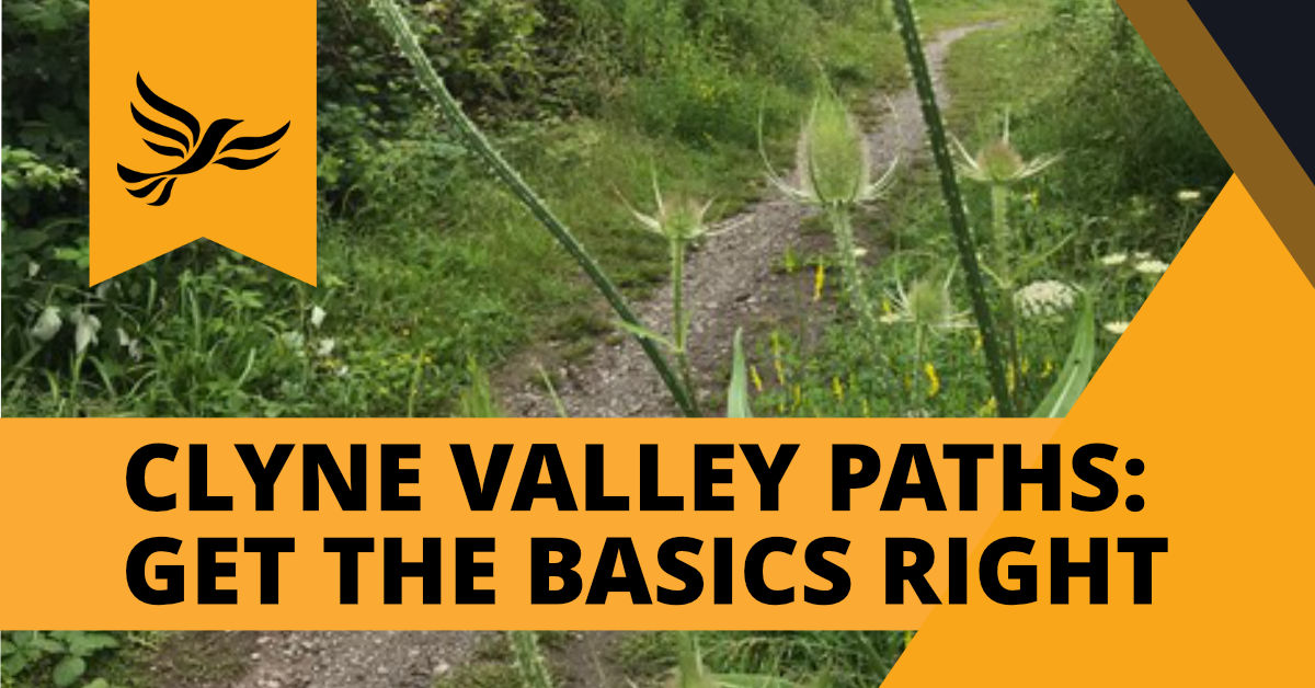Clyne Valley Paths: Get the Basics Right