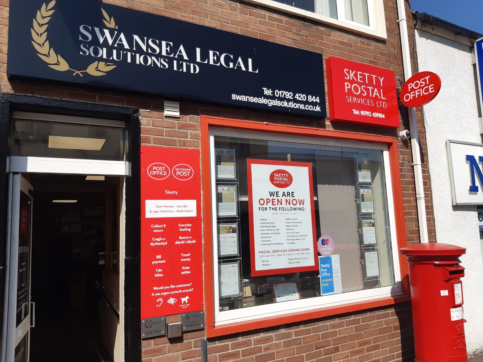 POST OFFICE IN SKETTY RE-OPENS