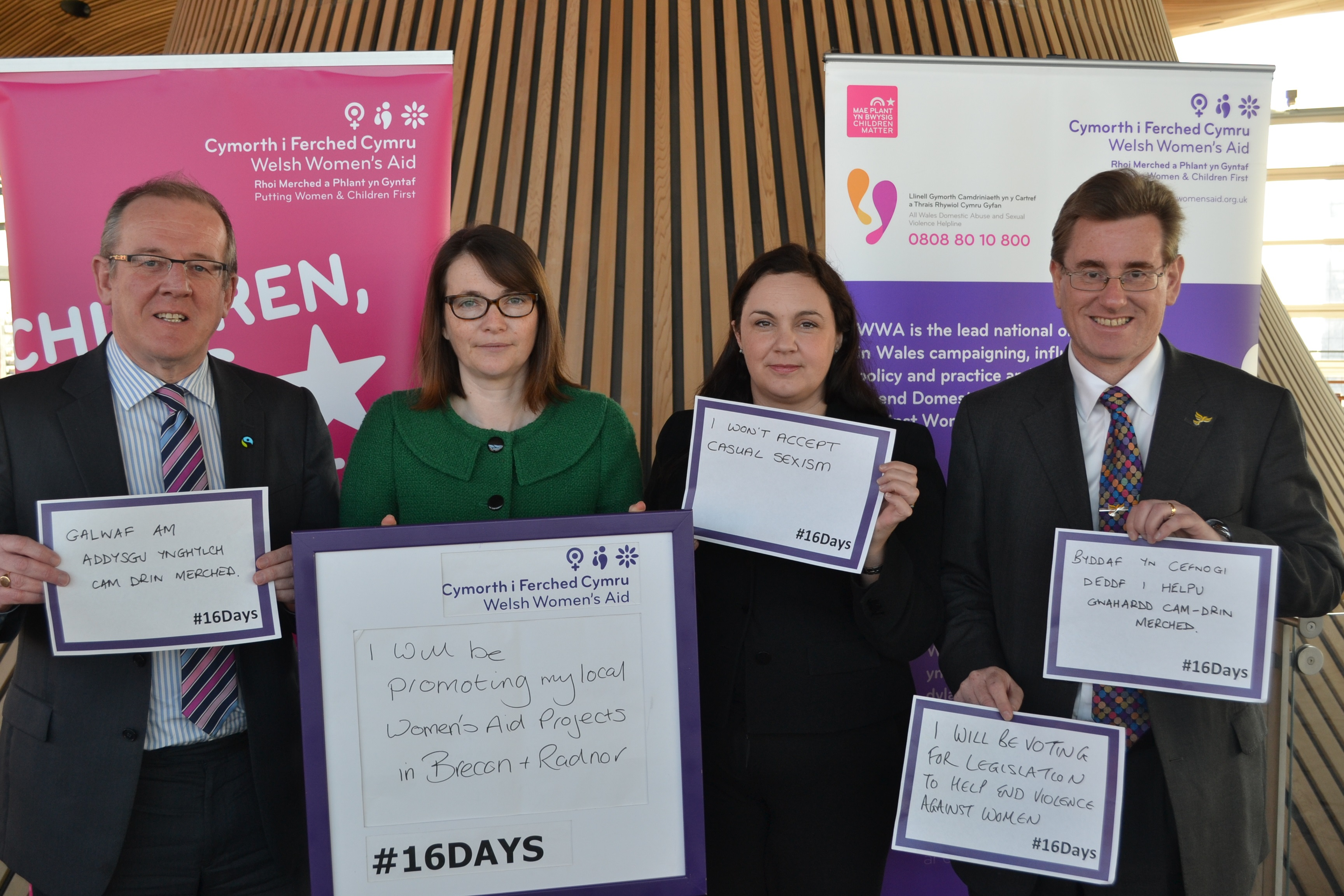 Welsh Liberal Democrats speak out to eliminate violence against women