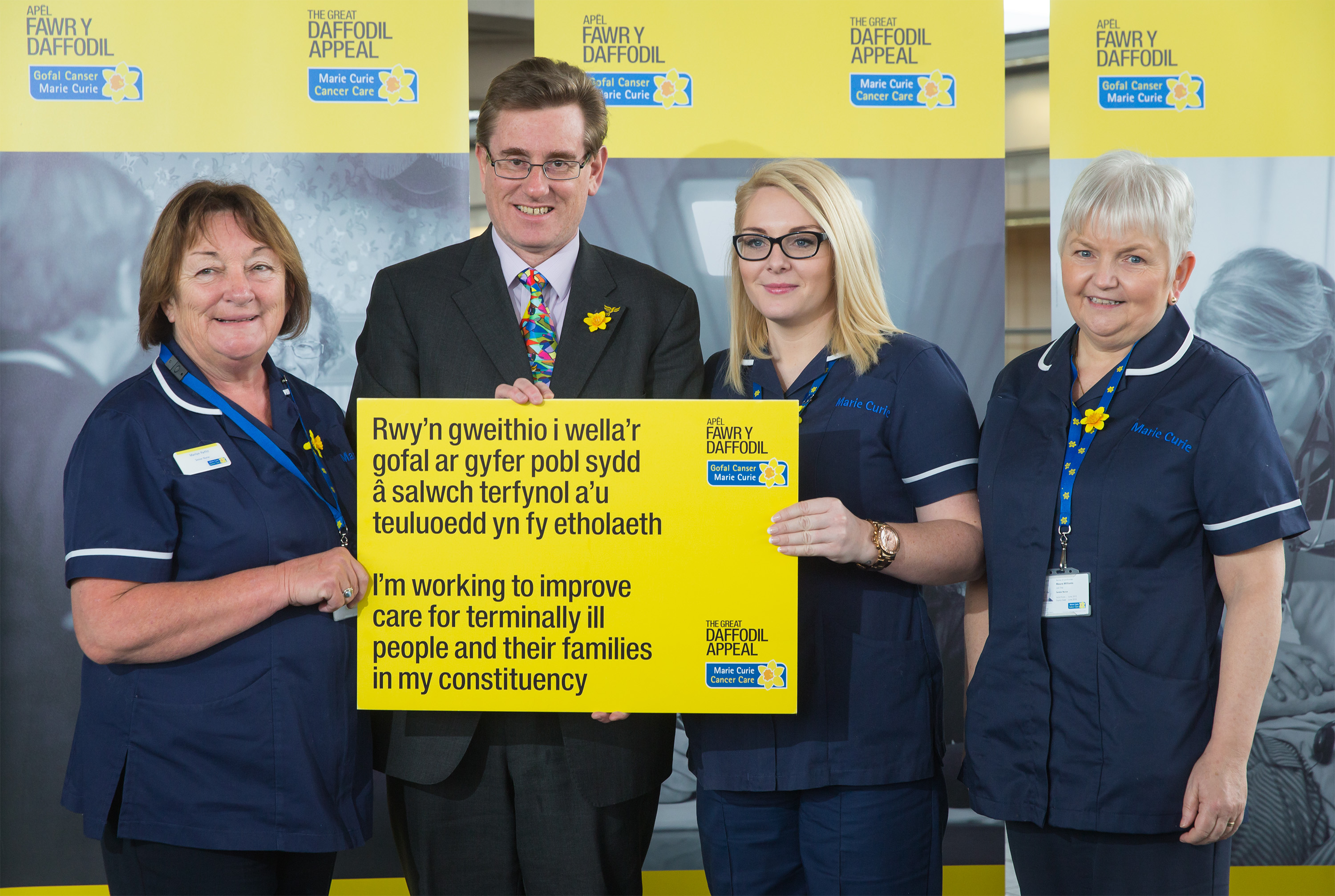South Wales West AM Peter Black supports Marie Curie's 2015 Great Daffodil Appeal