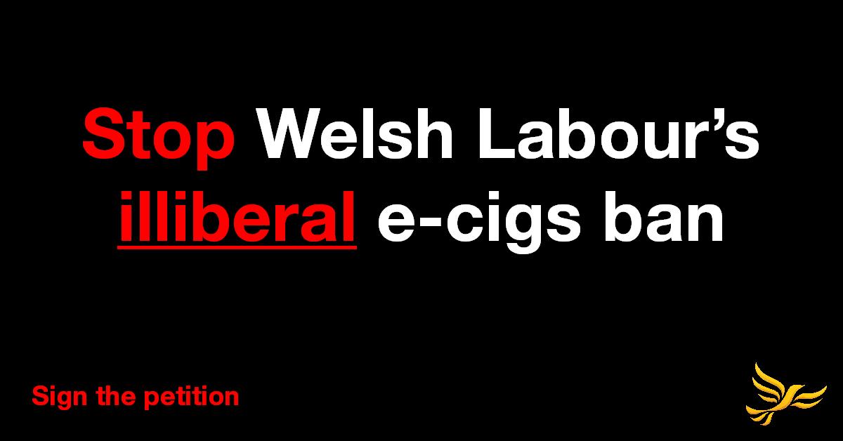Stop Welsh Labour's e-cigs ban