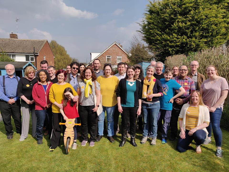 Jo Swinson in St Albans