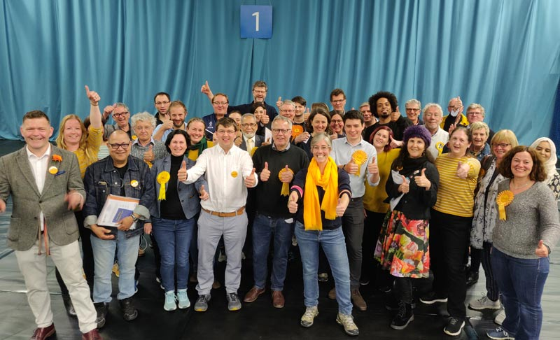 Lib Dems celebrate on election night