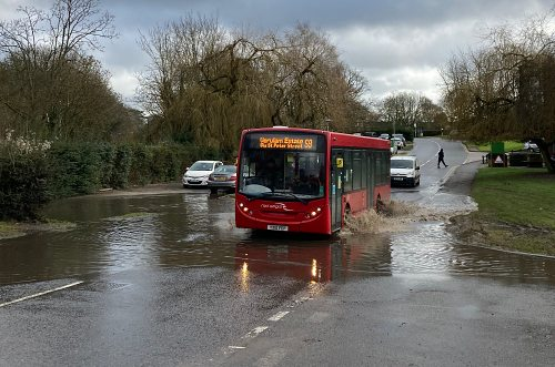 Problem flooding on Herts streets