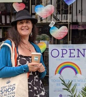 Mandy McNeil, St Albans council's portfolio holder for business, tourism and culture