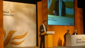 Sandy speaking on planning reform at LibDem conference in York 8th March 2014