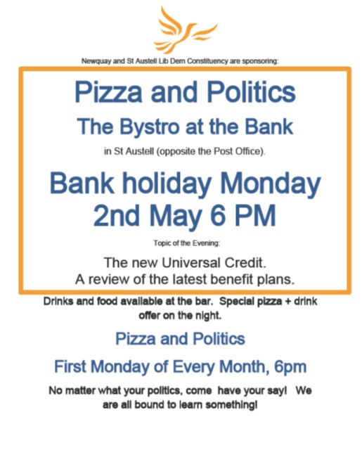 Pizza and Politics at Bystro at the Bank