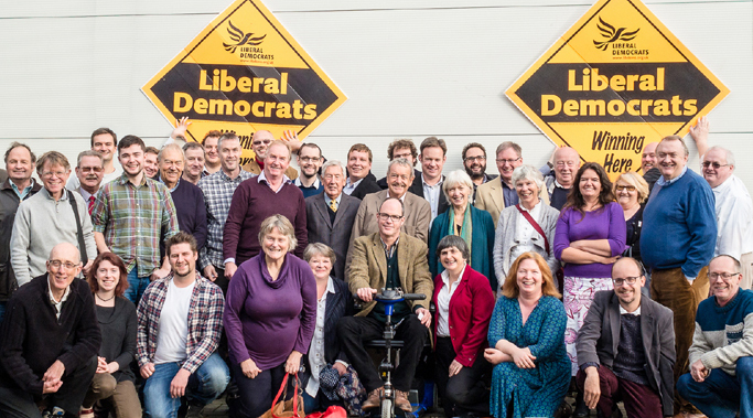 Volunteer for the local Liberal Democrats
