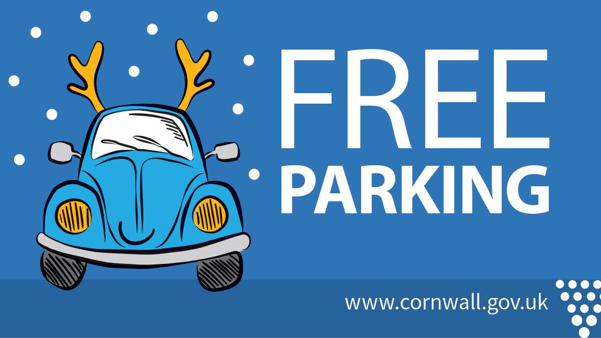 Cornwall Council says 'Merry Christmas' with free parking