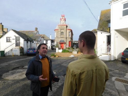 "Local Lib Dem campaigner Bill Mumford has been talking to local residents in Marazion about some of the issues faced by the town.   Bill said, ""One of the main issues is the excessive amount of sight-seeing traffic that comes down through the main street in summer from the Helston road, instead of following the signs that would take traffic down the bypass to the main car parks in front of the Mount."