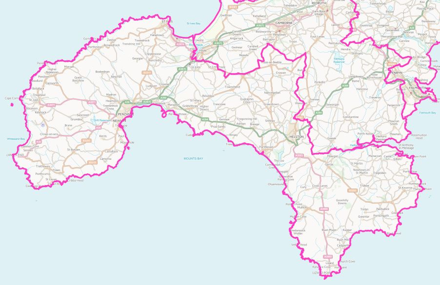 The St Ives constituency covers West Cornwall from the Lizard Peninsula to Leedstown, from St Keverne to the Isles of Scilly.  The main towns in the constituency are Penzance, Helston, St Ives, St Just, Newlyn and Marazion.