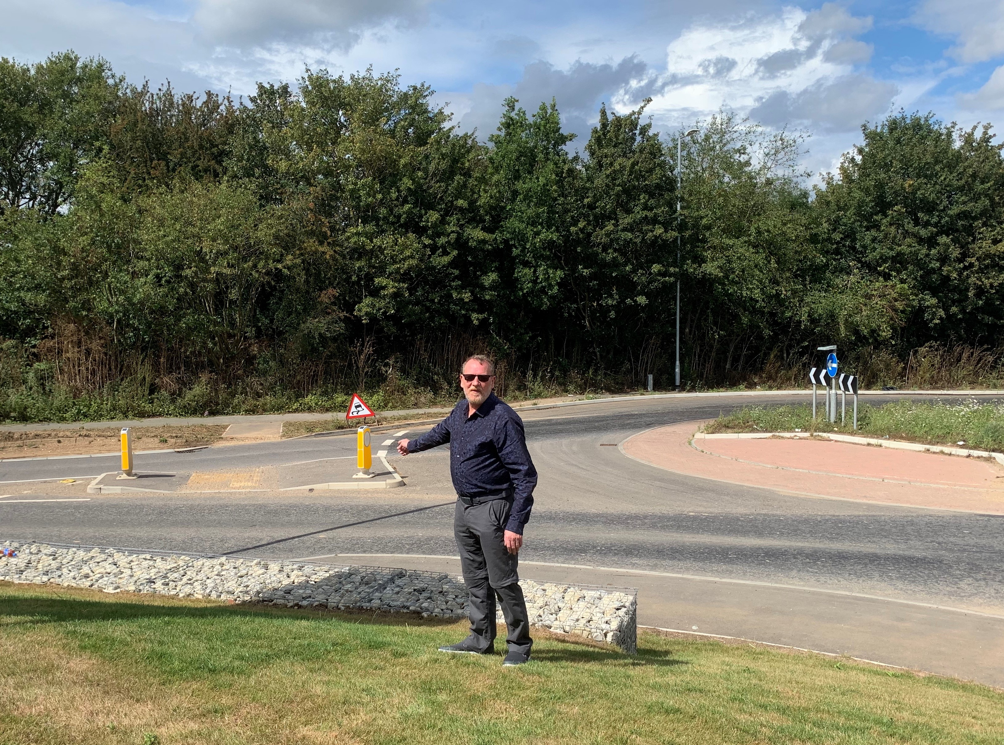 Cllr T Martin at Western Link Roundabout