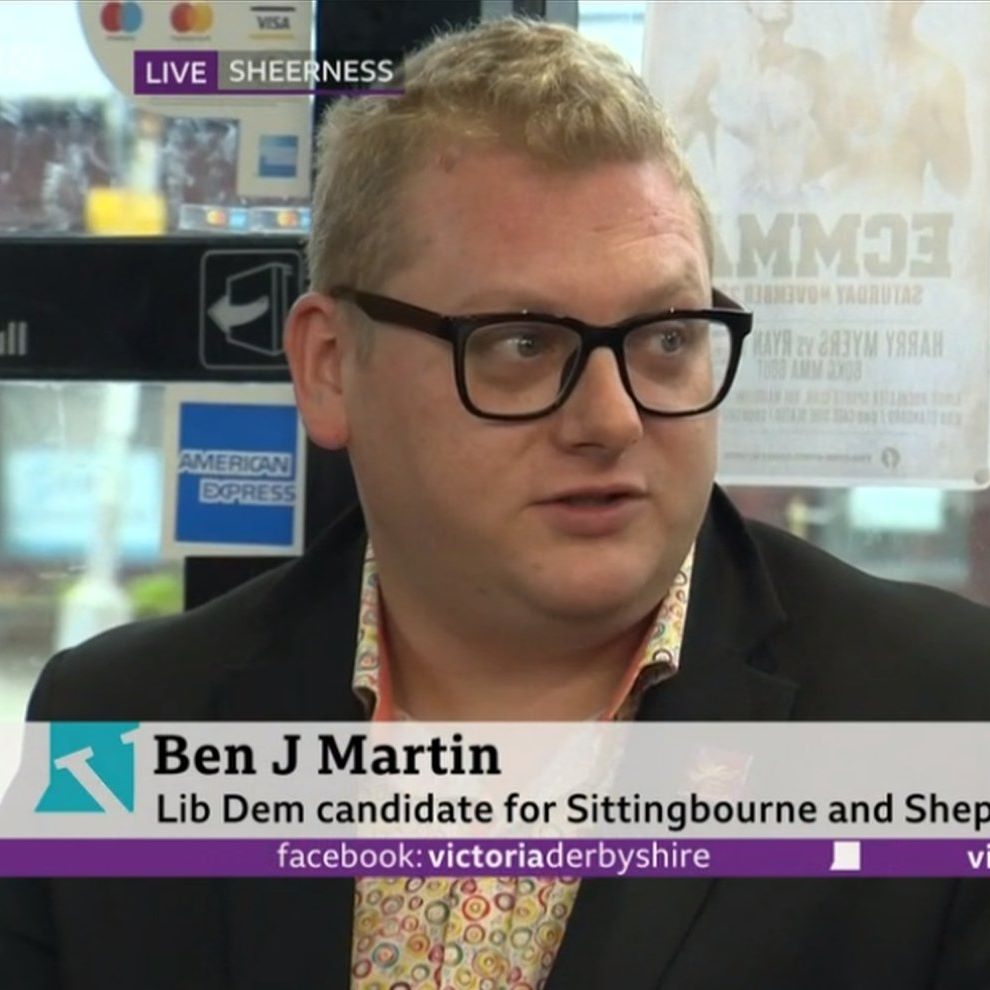 Cllr Ben J Martin appearing on Victoria Derbyshire