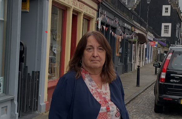 Christine Jardine at Queensferry highstreet