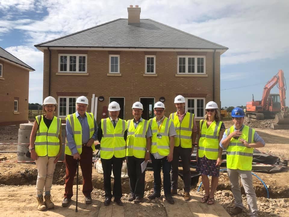 Cllr Ben J Martin inspects affordable housing scheme