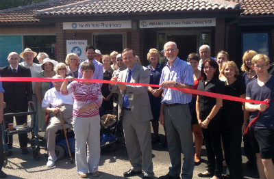 Steve Webb opening the Wellington Road Surgery