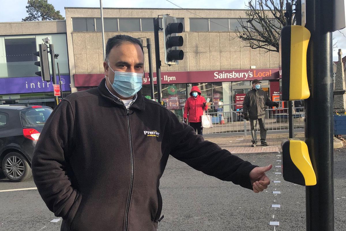 Raj Sood at Downend Pedestrian Crossing