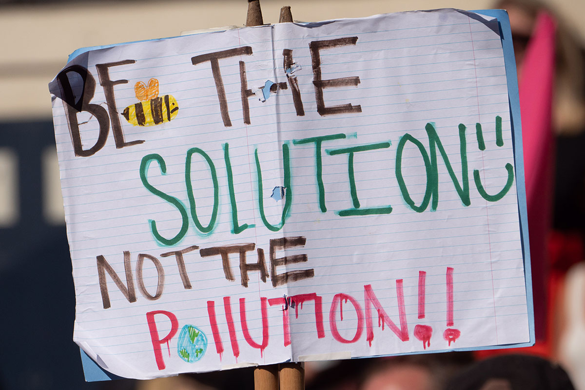 Pollution Protest Banner