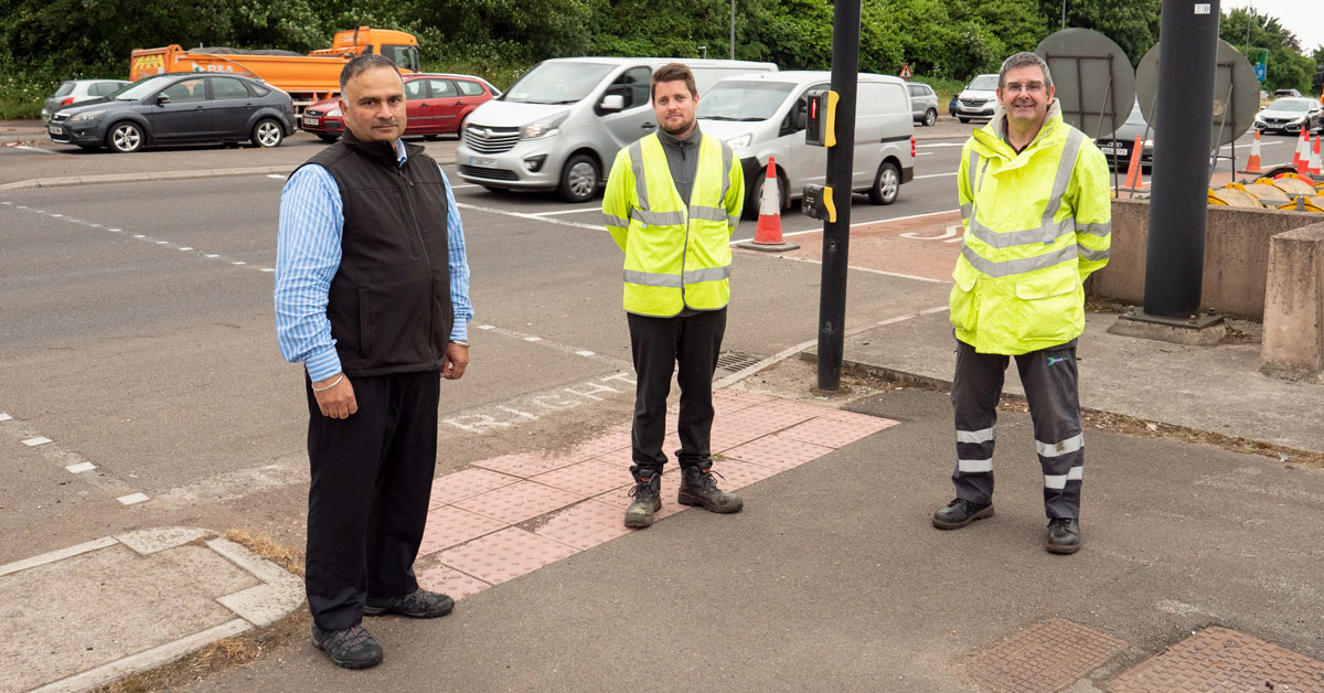 Raj Sood with South Glos Engineers at Hambrook Lights