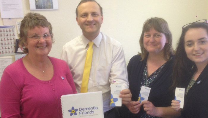 MP calls on local employers to make staff dementia friends