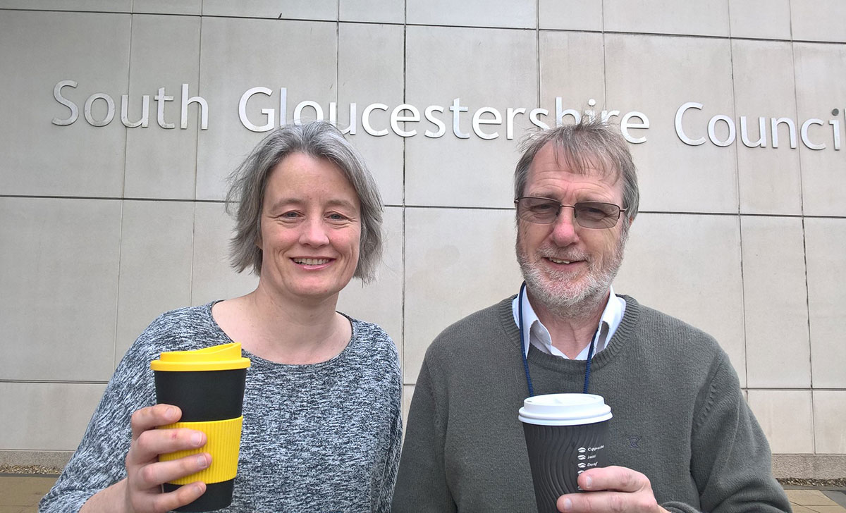 Claire Young Mike Drew reusable cups
