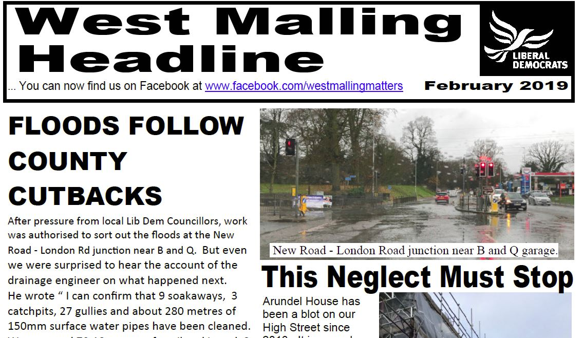 Latest copies of West Malling and Leybourne Headline