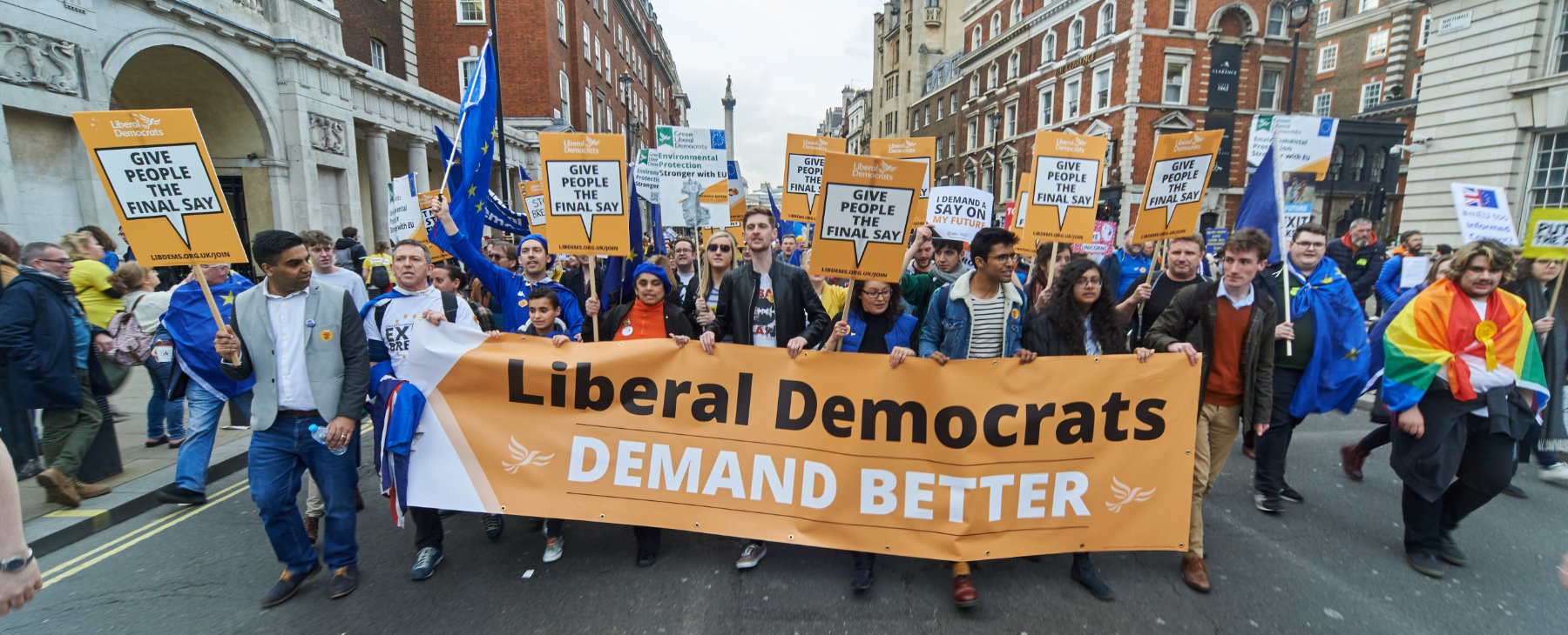Liberal Democrats on the People's Vote March - Image: Liberal Democrats