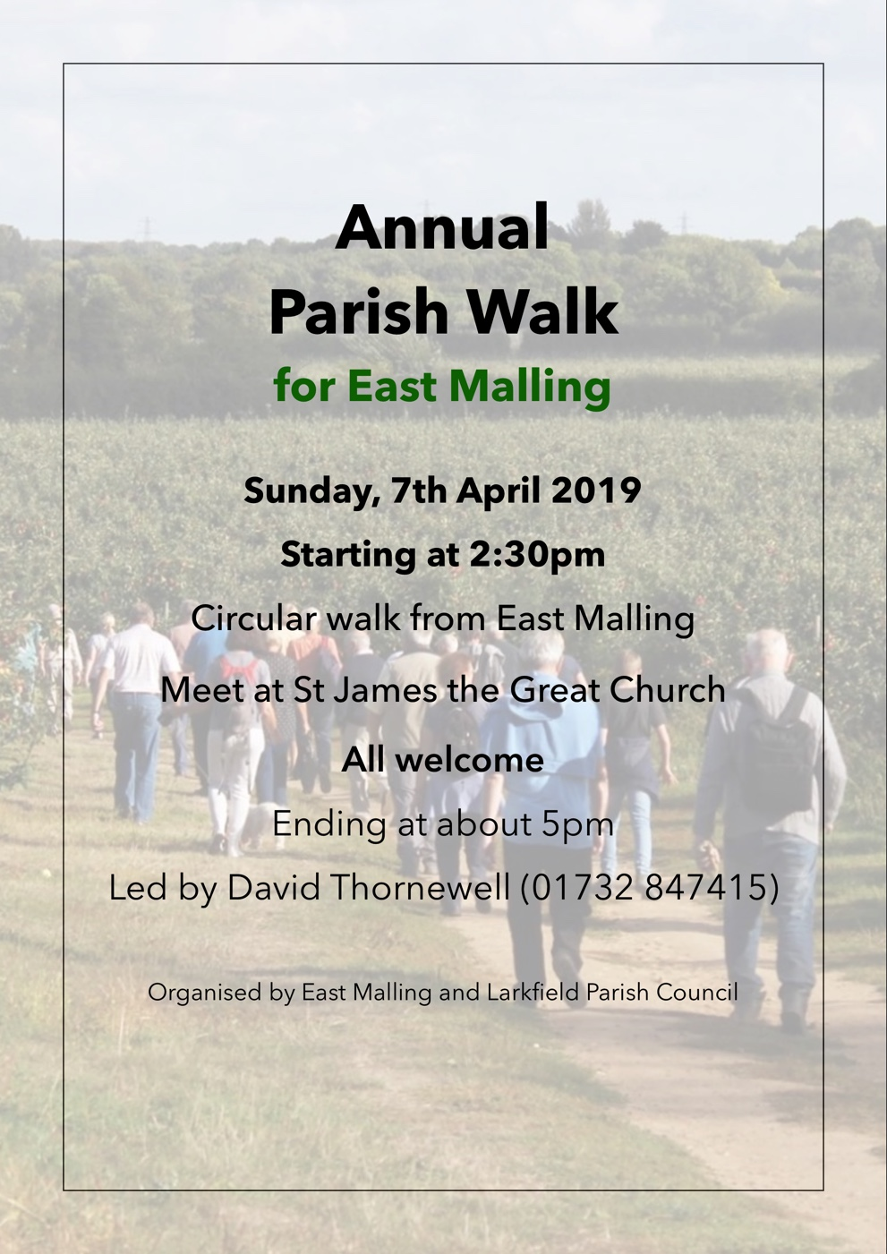 Annual Parish Walk for East Malling