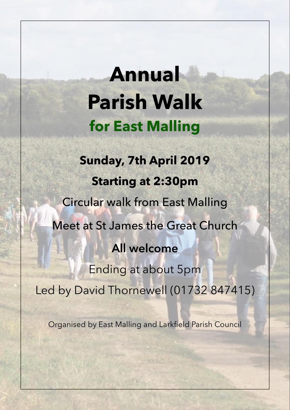 Annual Parish Walk for East Malling
