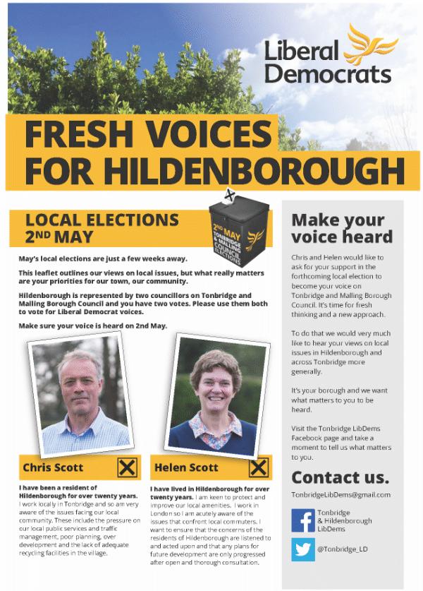 Hildenborough Local Election Leaflet