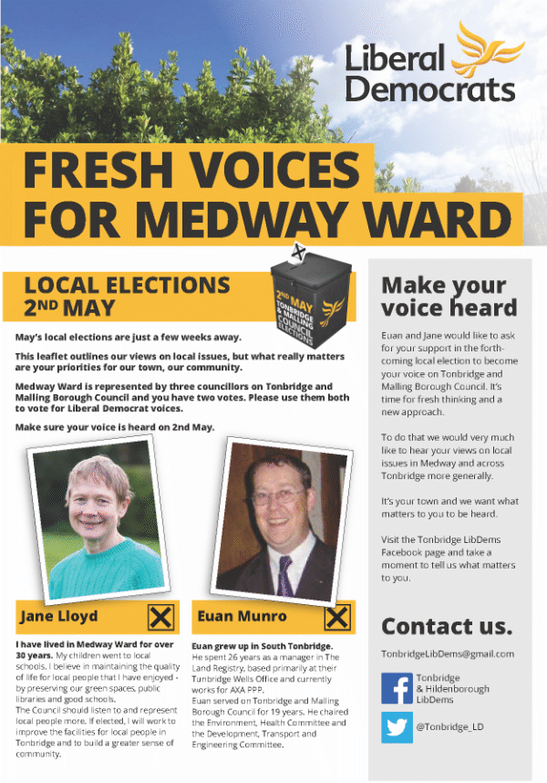 Medway Ward Local Election Leaflet