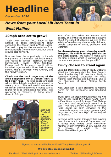 West Malling Headline cover
