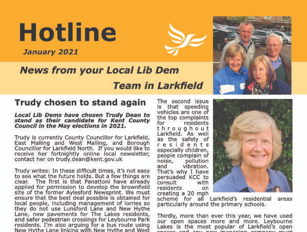 Larkfield Hotline - January 2021
