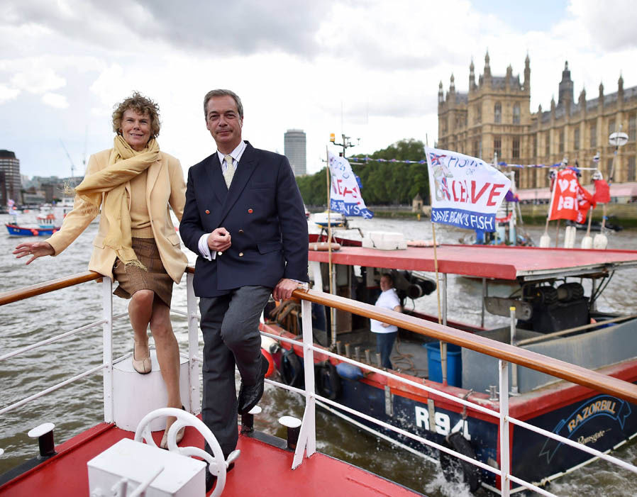 Kate Hoey and Farage