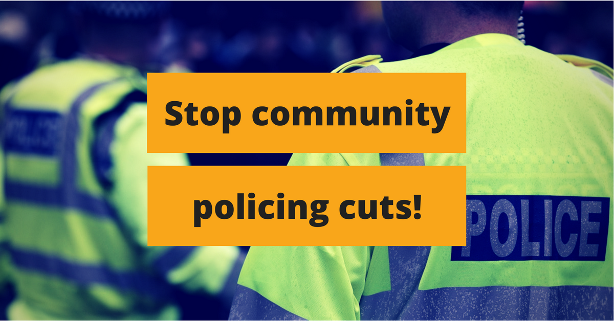 Stop community policing cuts!