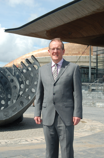 Aled Roberts outside Senedd (Richard Thomas)