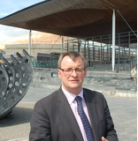 William Powell outside Senedd (Richard Thomas)