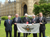 QDG in Westminster- From Left to Right- Peter Wisher Roger Williams MP Lord Elton Alfie Corfield and Huw Longmore