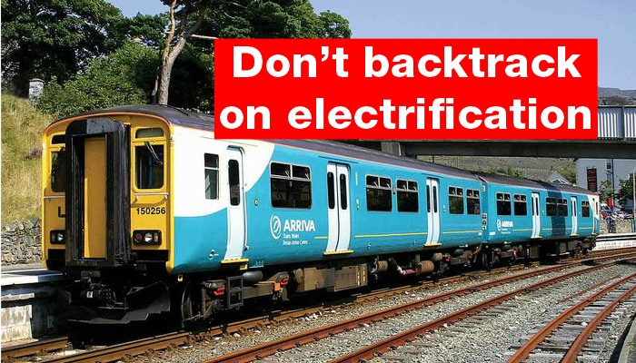 Ditching rail electrification 'standard Tory'
