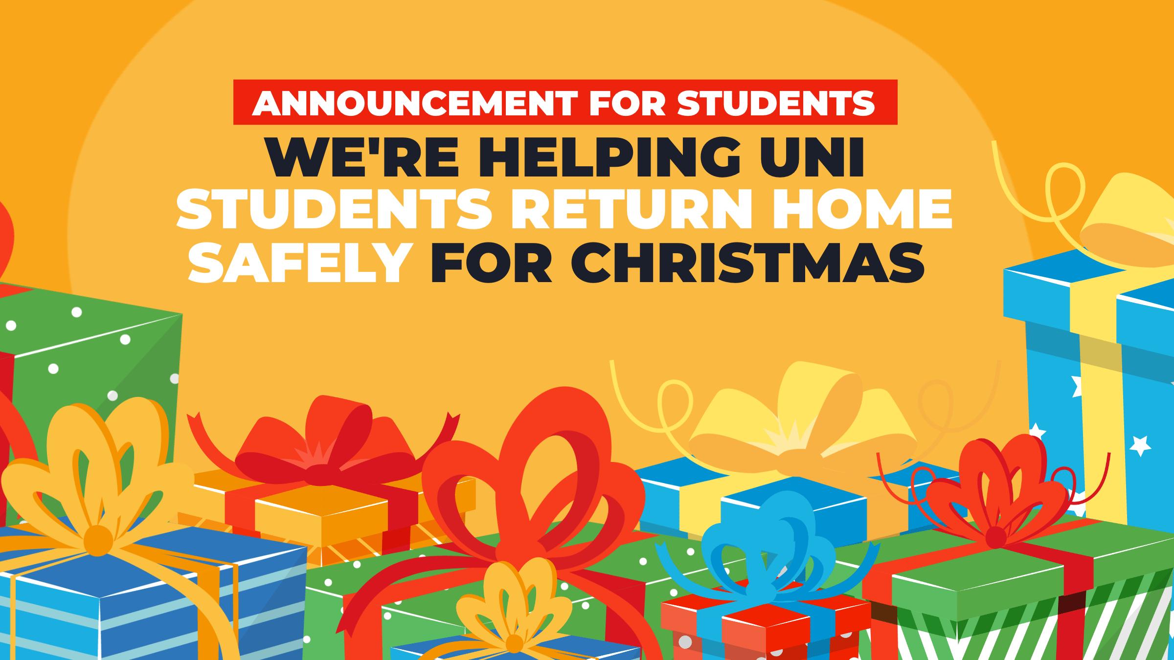 Welsh Lib Dem Education Minister announces Christmas travel plans for students