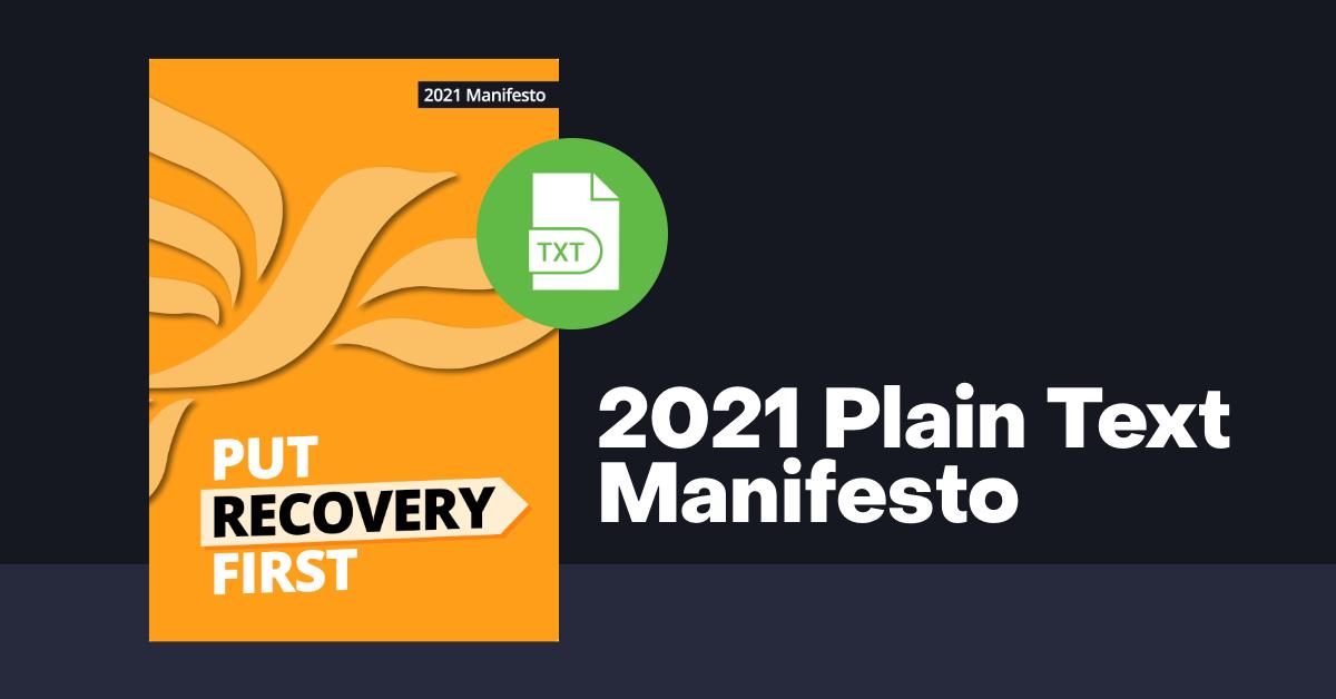 Plain Text Manifesto