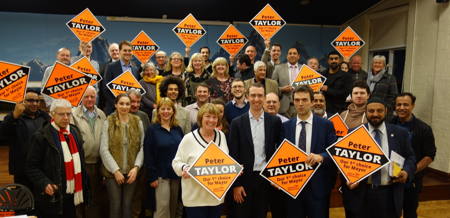 Peter Taylor and the Watford Liberal Democrats launch 'bold and ambitious' manifesto