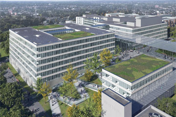 Artist's impression of plans for new hospital buildings at Watford General.
