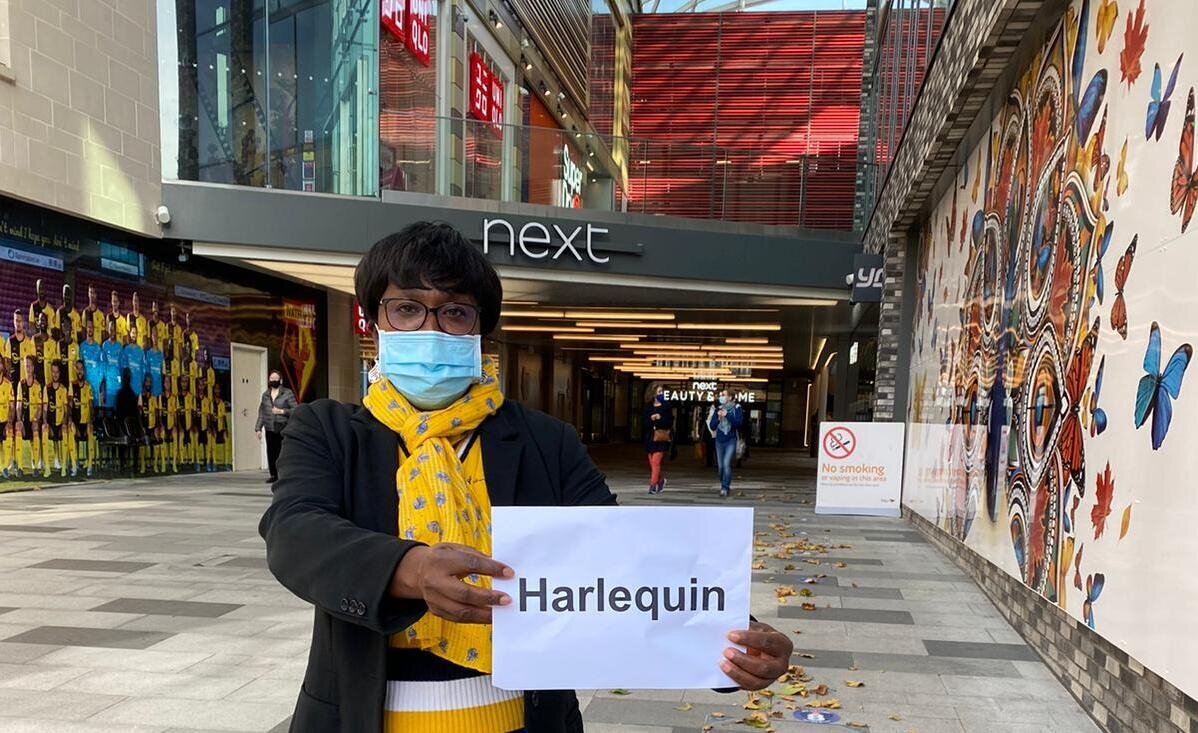 Let's call our shopping centre The Harlequin (again)!
