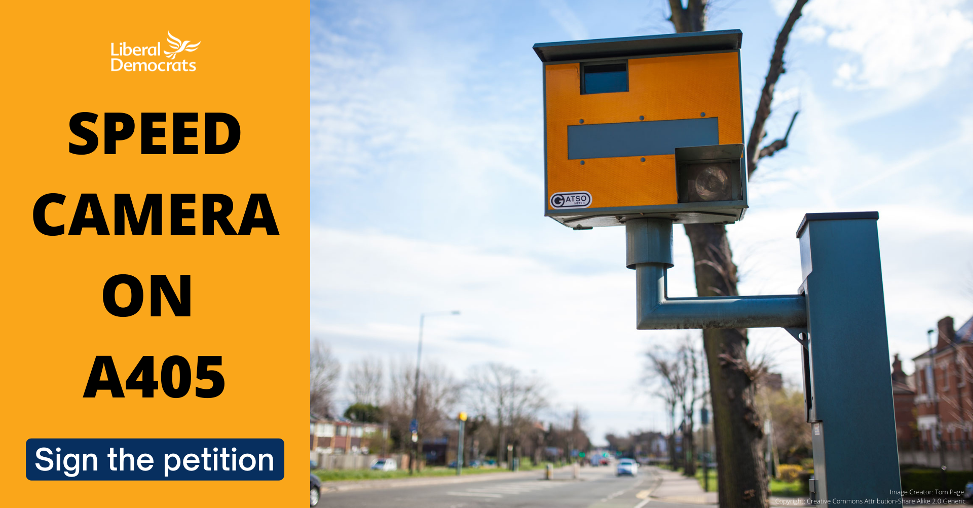 Petition for Speed Camera(s) on the A405