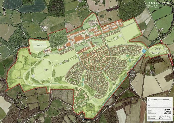 Image: Dunsfold Park Masterplan